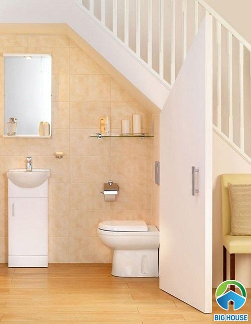 nhà vệ sinh dưới gầm cầu thang đẹp