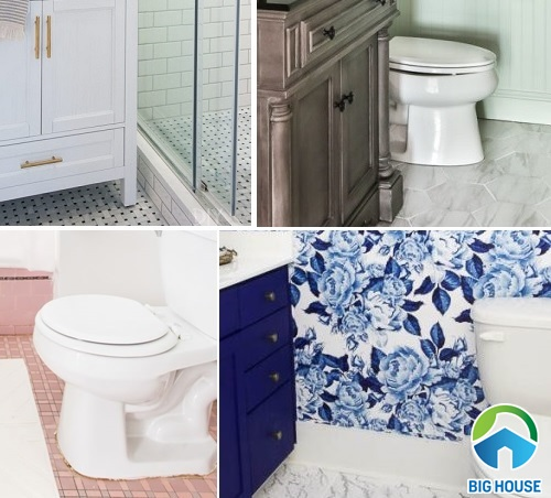 Nhà vệ sinh nhỏ hóa rộng với 11 ý tưởng ốp lát gạch độc đáo