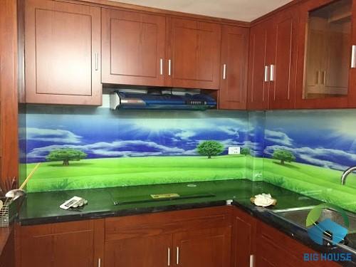 gạch 3D ốp tường bếp