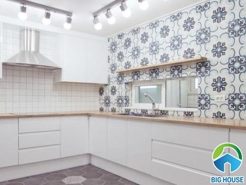 mẫu gạch bông tường ốp bếp