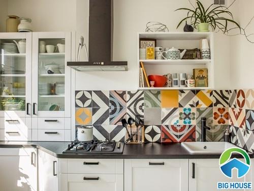 BST Các mẫu gạch bông ốp tường bếp đẹp KHÔNG THỂ RỜI MẮT