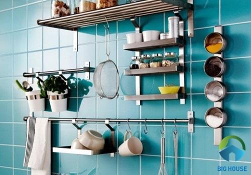 gạch kính ốp tường bếp 1