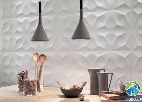 gạch ốp tường hiệu ứng 3D