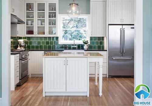 gạch ốp bếp màu xanh 11