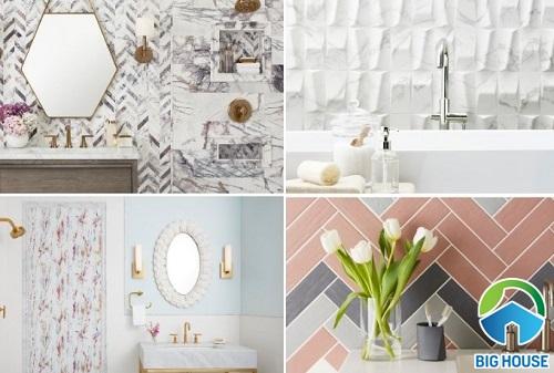 Các loại gạch trang trí nhà tắm dẫn đầu xu hướng nội thất 2019