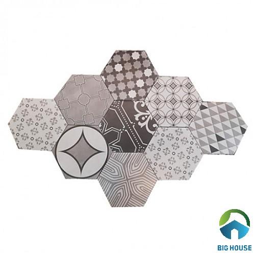 mẫu gạch bông ốp bếp hình lục giác