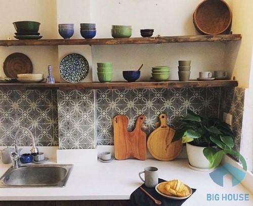 mẫu gạch bông ốp bếp 1