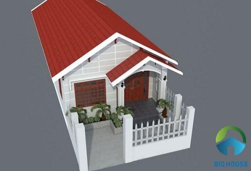 mẫu nhà gác lửng mái tôn 2