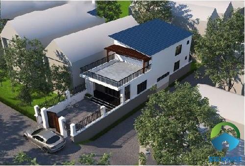 mẫu nhà gác lửng mái tôn 3