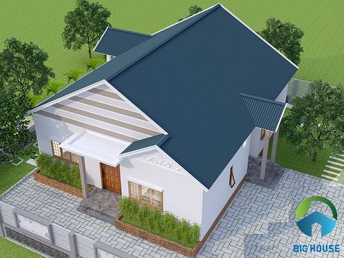 mẫu nhà gác lửng mái tôn 4