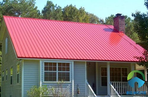 mẫu nhà gác lửng mái tôn 5