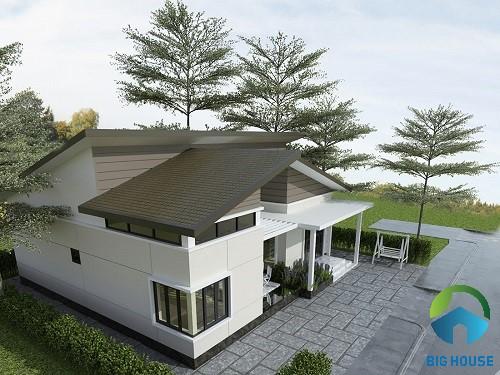 mẫu nhà gác lửng mái tôn 6