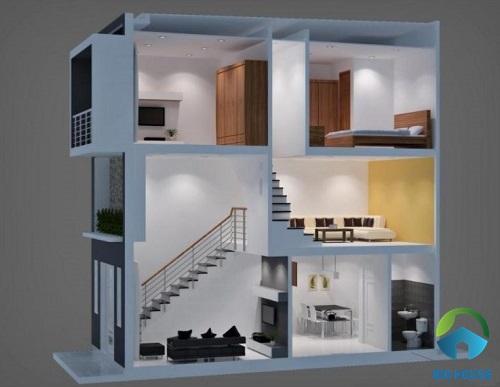 nhà gác lửng 2 tầng 4
