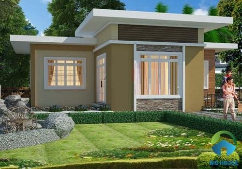 Nhà gác lửng mái bằng đẹp hiện đại