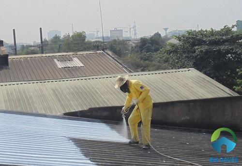 xây nhà cấp 4 gác lửng mái tôn