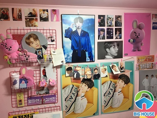 phòng ngủ của fan bts 7