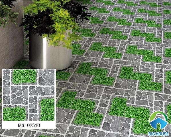 Mẫu gạch giả cỏ Prime 02510 bề mặt định hình, chống trơn trượt hiệu quả