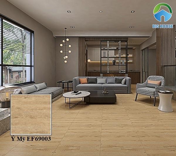 Mẫu gạch giả gỗ Ý Mỹ EF69003 mang vẻ đẹp mộc mạc, cổ điển của gỗ tự nhiên