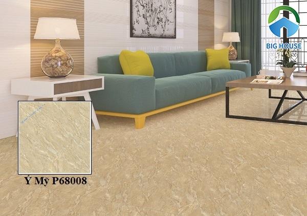 Mẫu gạch Ý Mỹ P68008 tông màu nâu đất, chất liệu granite cao cấp