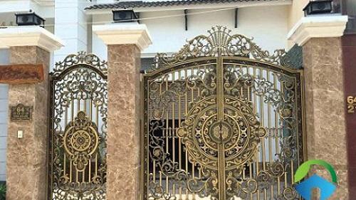 gạch ốp cổng nhà