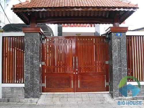gạch ốp trụ cổng nhà