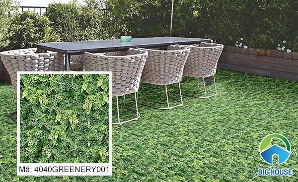 Mẫu gạch Đồng Tâm4040GREENERY004 họa tiết giả cỏ xanh bắt mắt