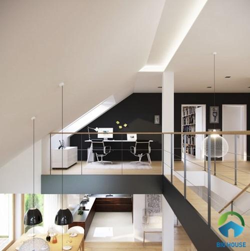thiết kế nhà gác lửng hiện đại