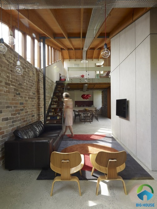 thiết kế nhà cấp 4 gác lửng hiện đại