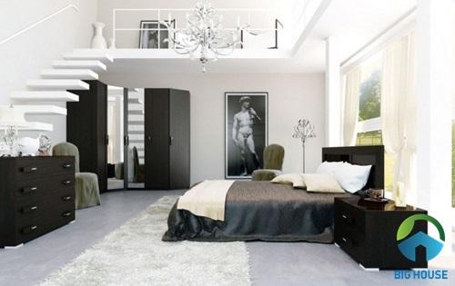Thiết kế tầng lửng trong phòng ngủ