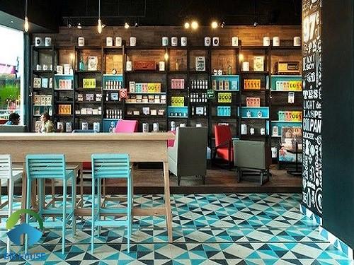 gạch lát quán cafe 8