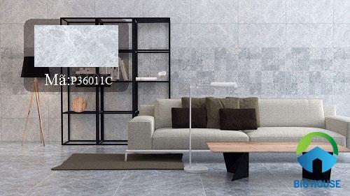 mẫu gạch ốp tường phòng khách Ý Mỹ 2