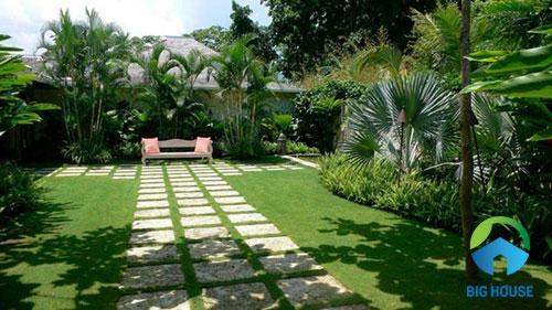 cách phối gạch lát sân vườn 2