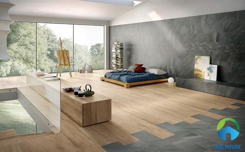 gạch vân gỗ lát nền phòng ngủ 1