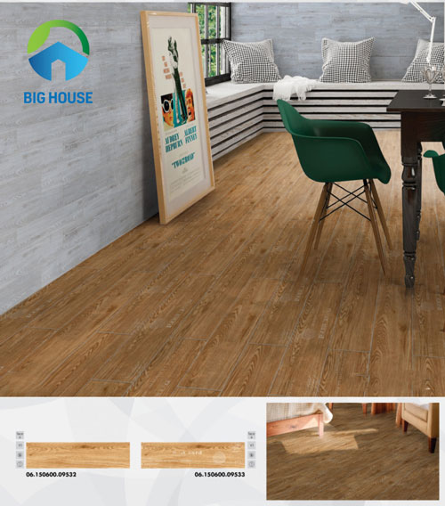 gạch lát phòng ngủ giả gỗ 1