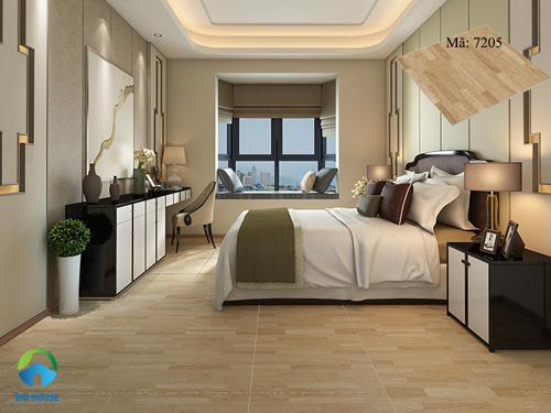 gạch lát nền phòng ngủ giả gỗ 2