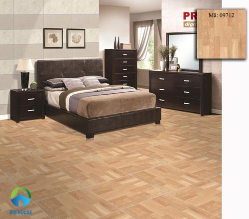 gạch vân gỗ lát phòng ngủ