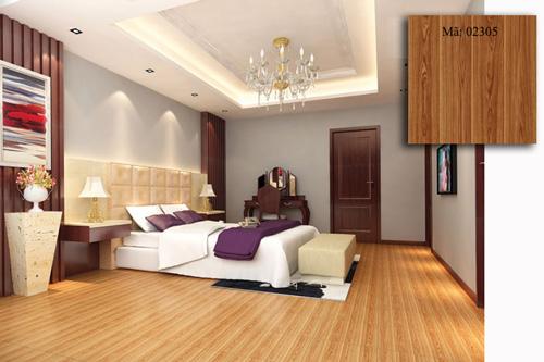 gạch lát nền phòng ngủ giả gỗ 1