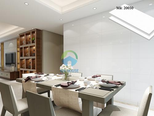 gạch ốp tường bếp màu trắng 4