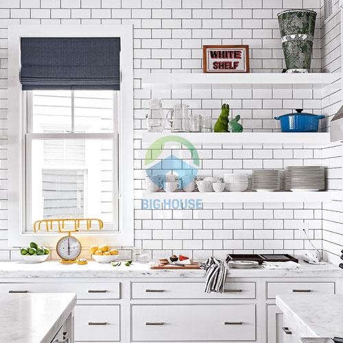 gạch ốp tường bếp màu trắng 7