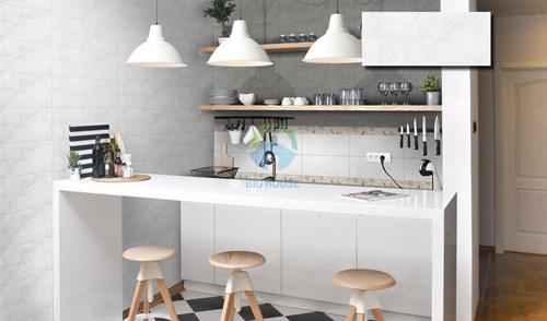 BST mẫu gạch ốp tường bếp màu trắng bạn không nên bỏ lỡ