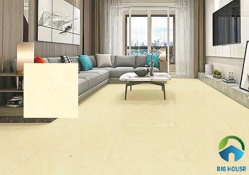 Gạch lát nền màu vàng Ý Mỹ F68013 chất liệu granite cao cấp cho phòng khách