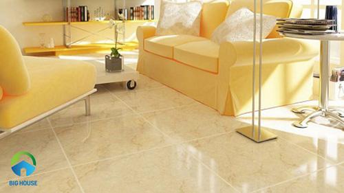 gạch lát nền màu vàng