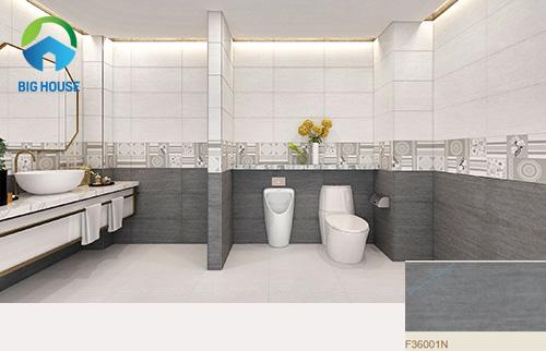 gạch ốp nhà tắm màu xám 1