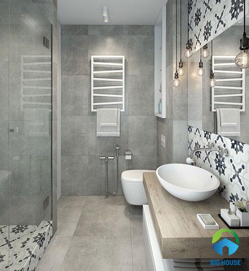 gạch ốp nhà tắm màu xám 10