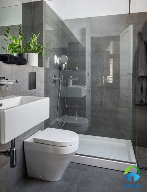 gạch ốp nhà tắm màu xám 11