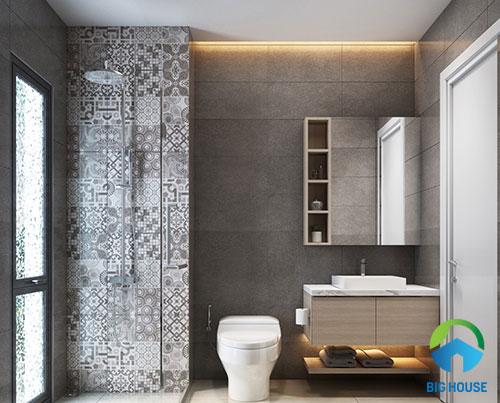 gạch ốp nhà tắm màu xám 12