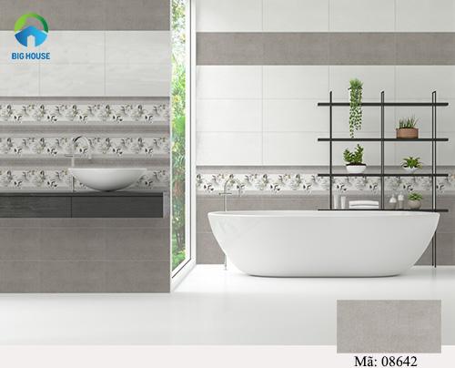 gạch ốp nhà tắm màu xám 4