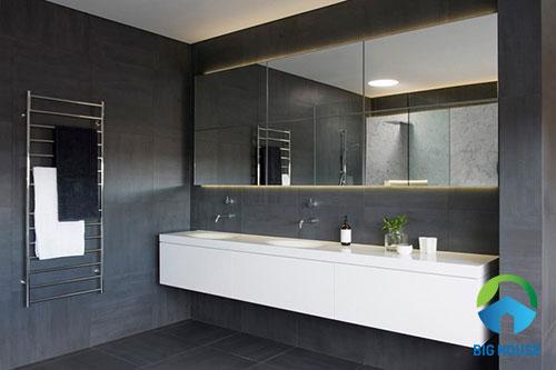 15++ mẫu gạch ốp nhà tắm màu xám ĐẸP và ẤN TƯỢNG nhất hiện nay