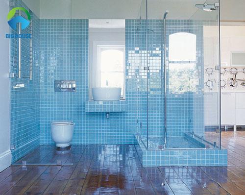 gạch ốp nhà tắm màu xanh 11