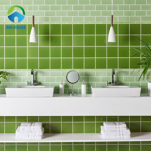 gạch ốp nhà tắm màu xanh 15